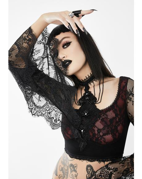 Sheer Lace Crop Top