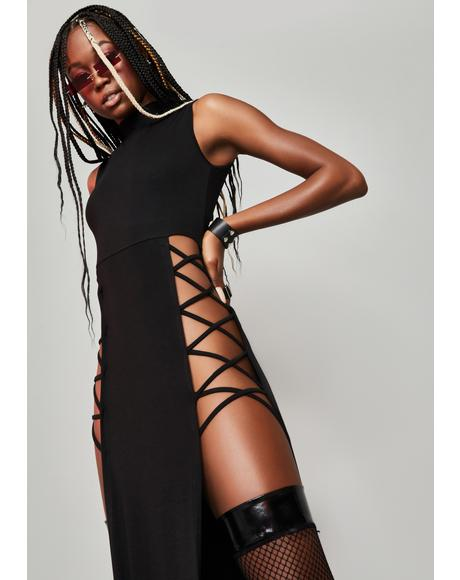 Real Ambition Cut-Out Maxi Dress