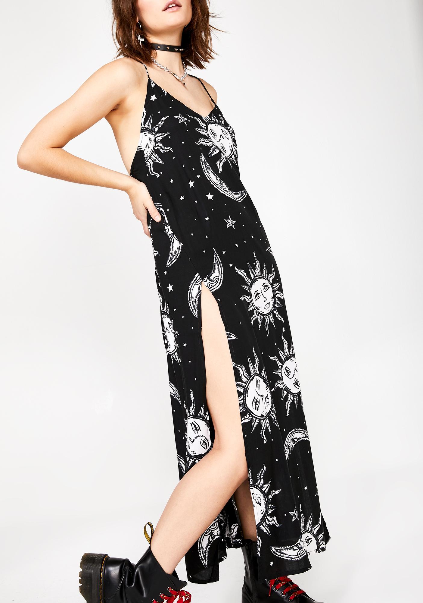Motel Sun And Moon Hime Maxi Dress