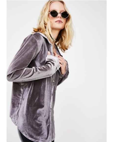 Retro Sexual Velvet Shirt