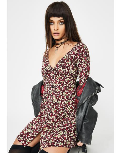 Floral Rigi Mini Dress