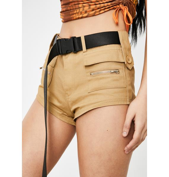 Poster Grl Meetings On Rodeo Utility Shorts