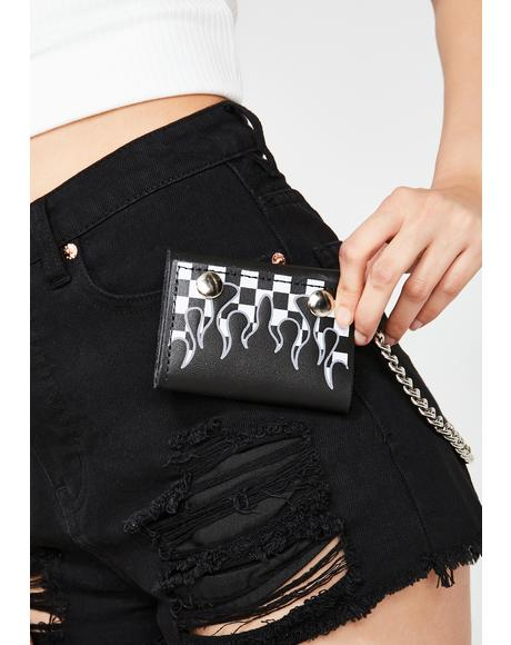 Checkered Flame Wallet