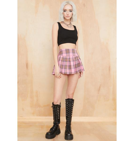 Current Mood Baby Catch A Ride Pleated Skirt