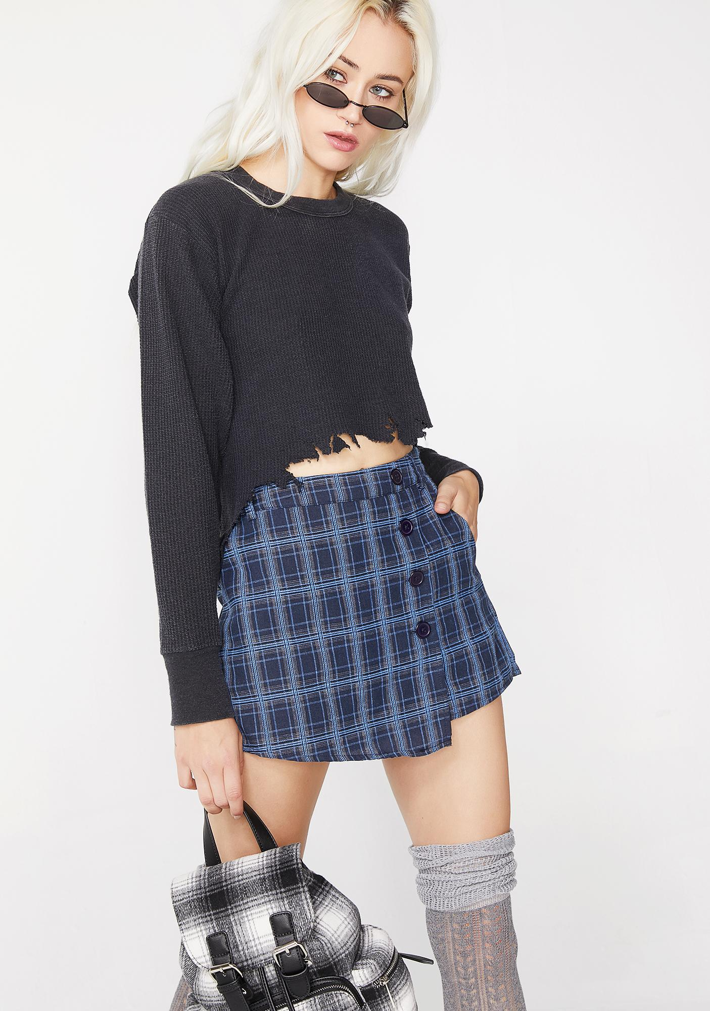 Berry Body For Sin Plaid Skirt