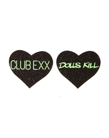 Club Exx Heart Pasties