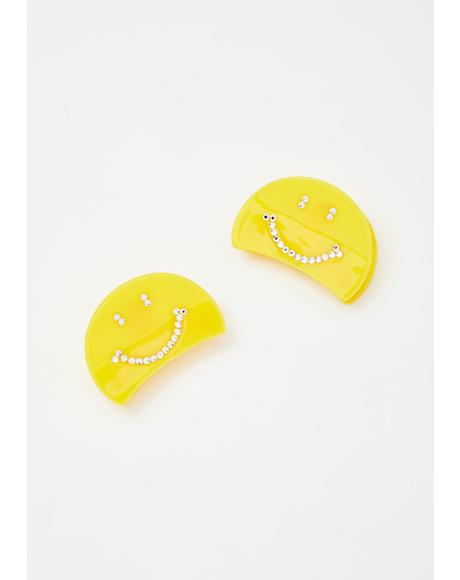 Smile More Hair Clip Set