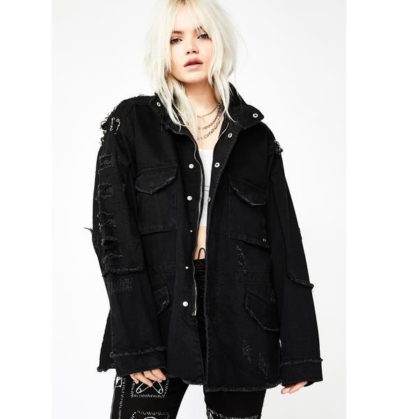 Baddie Badness Pierced Jacket