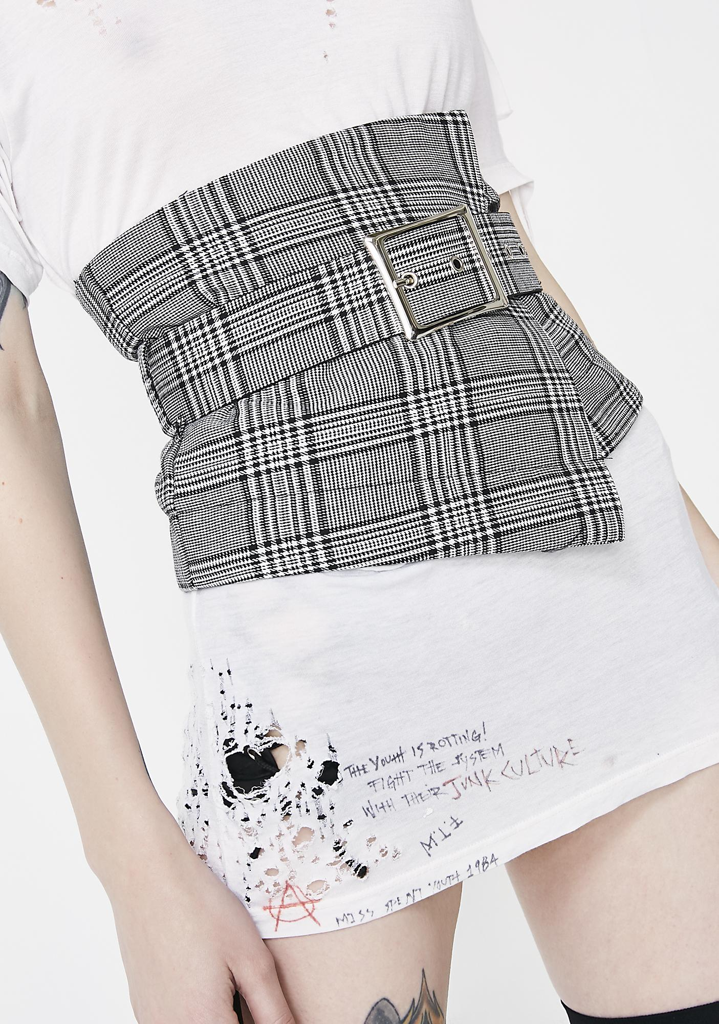 Be Profesh Plaid Waist Belt