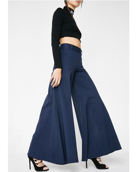 Deep Step Wide Leg Pants