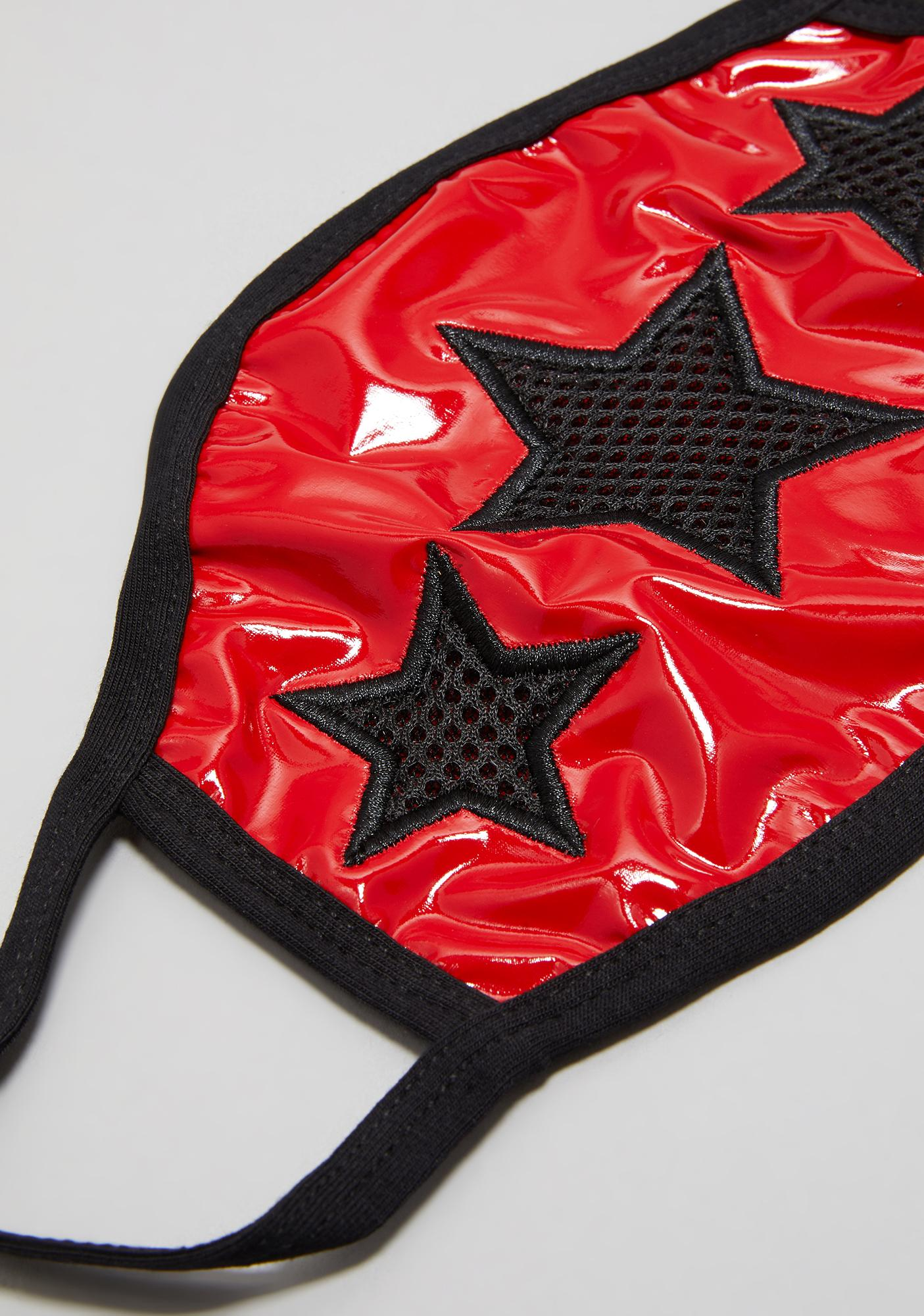 Widow Nation Of Misfits Patent Face Mask
