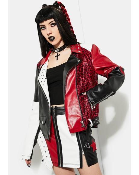Misery Business Color Block Moto Jacket