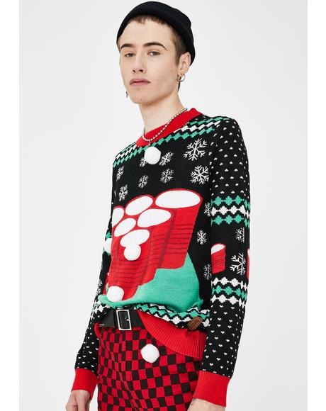 Cheer Pong Game Sweater