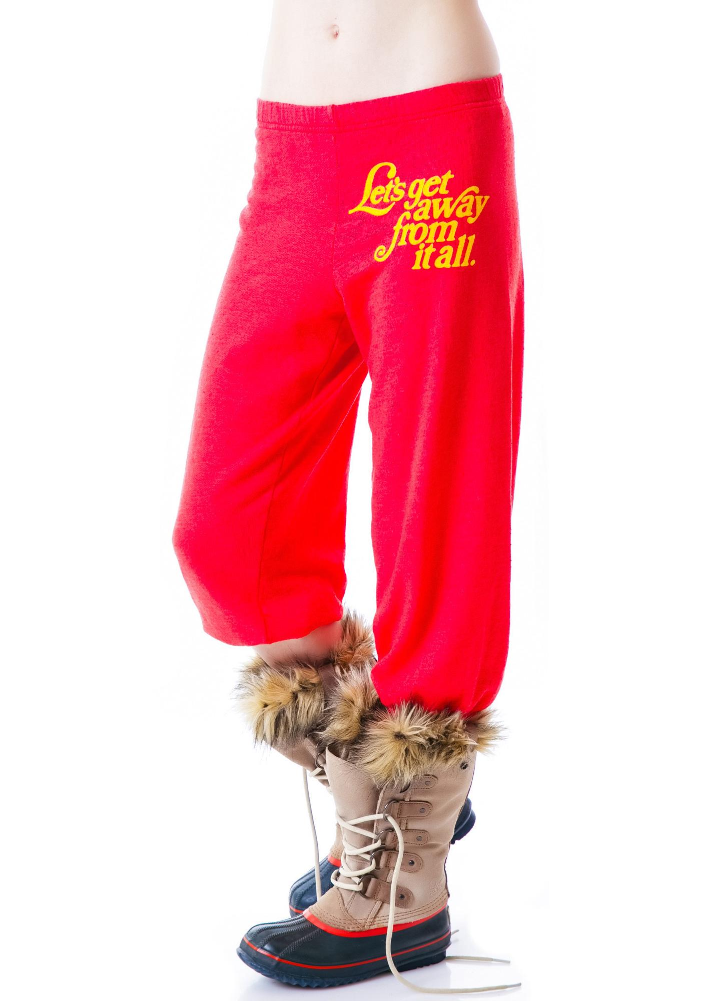 Wildfox Couture Let's Get Away Cropped Morning Sweats