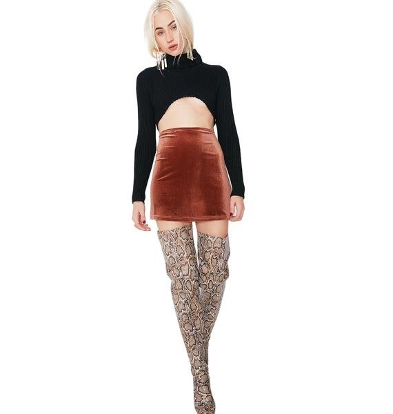 Cocoa Pretty Little Lies Velvet Skirt
