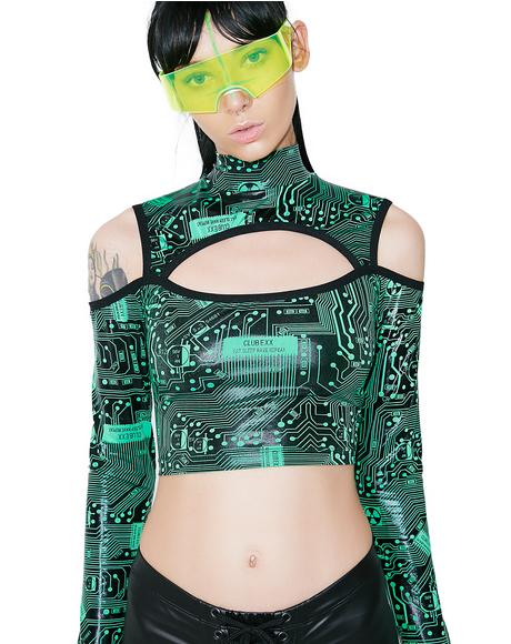 Circuit Trippin' Cut-Out Crop Top