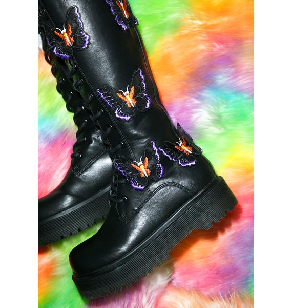 Y.R.U. Betterfly Knee-High Boots