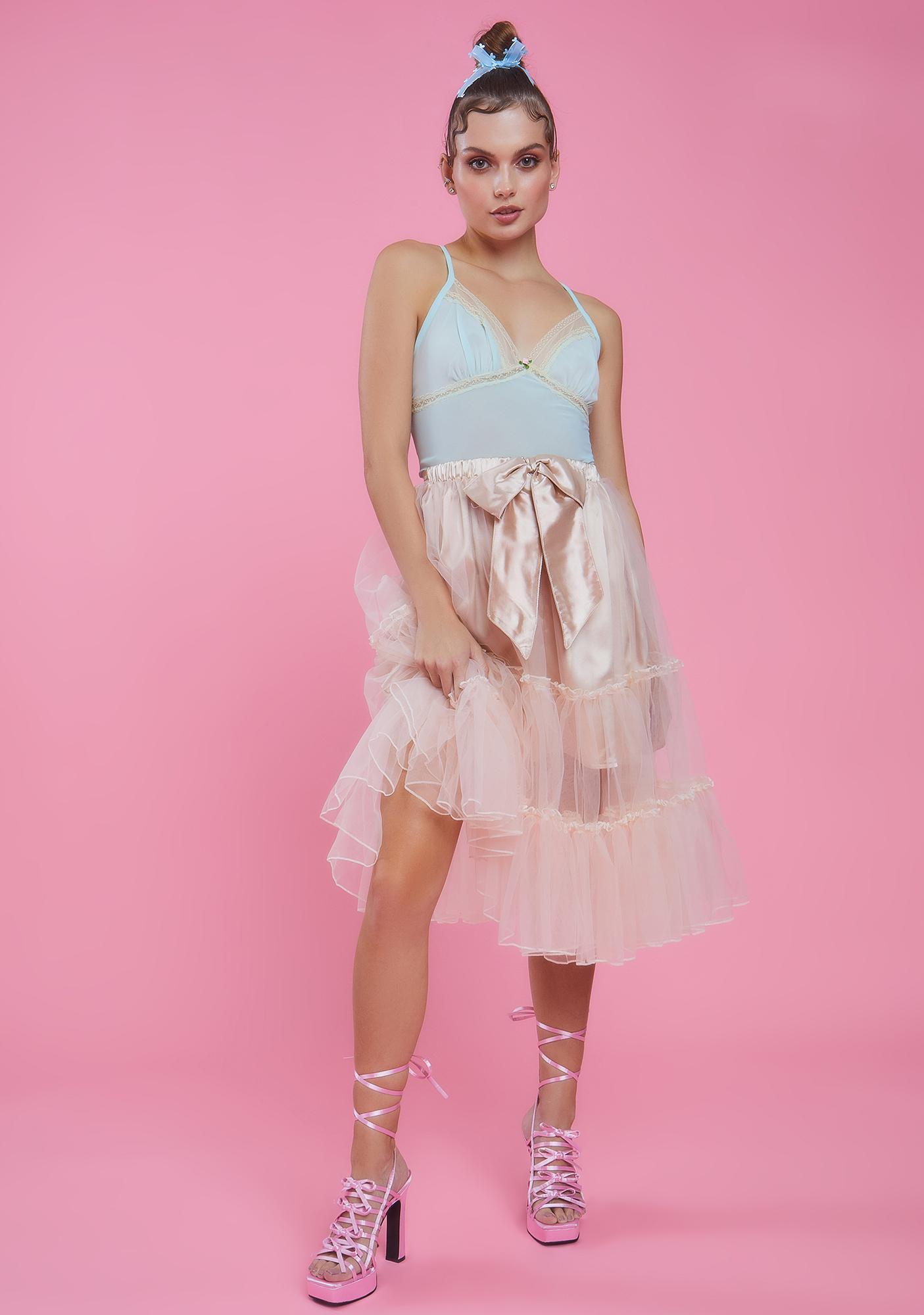 Sugar Thrillz Tutu For Now Tulle Midi Skirt