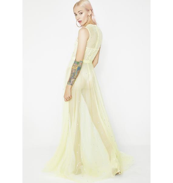 Kiki Riki Translucent Star Maxi Dress