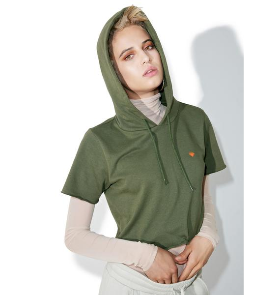 Diamond Supply Lustrous Cropped Hoodie