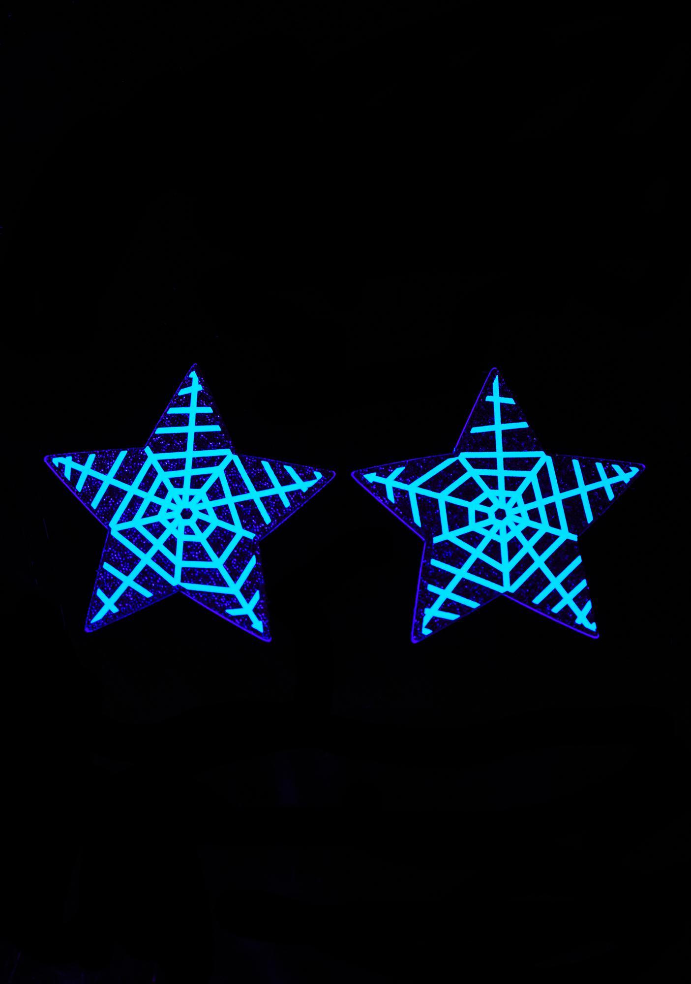 Pastease Glow In The Dark Spider Web Stars Pasties