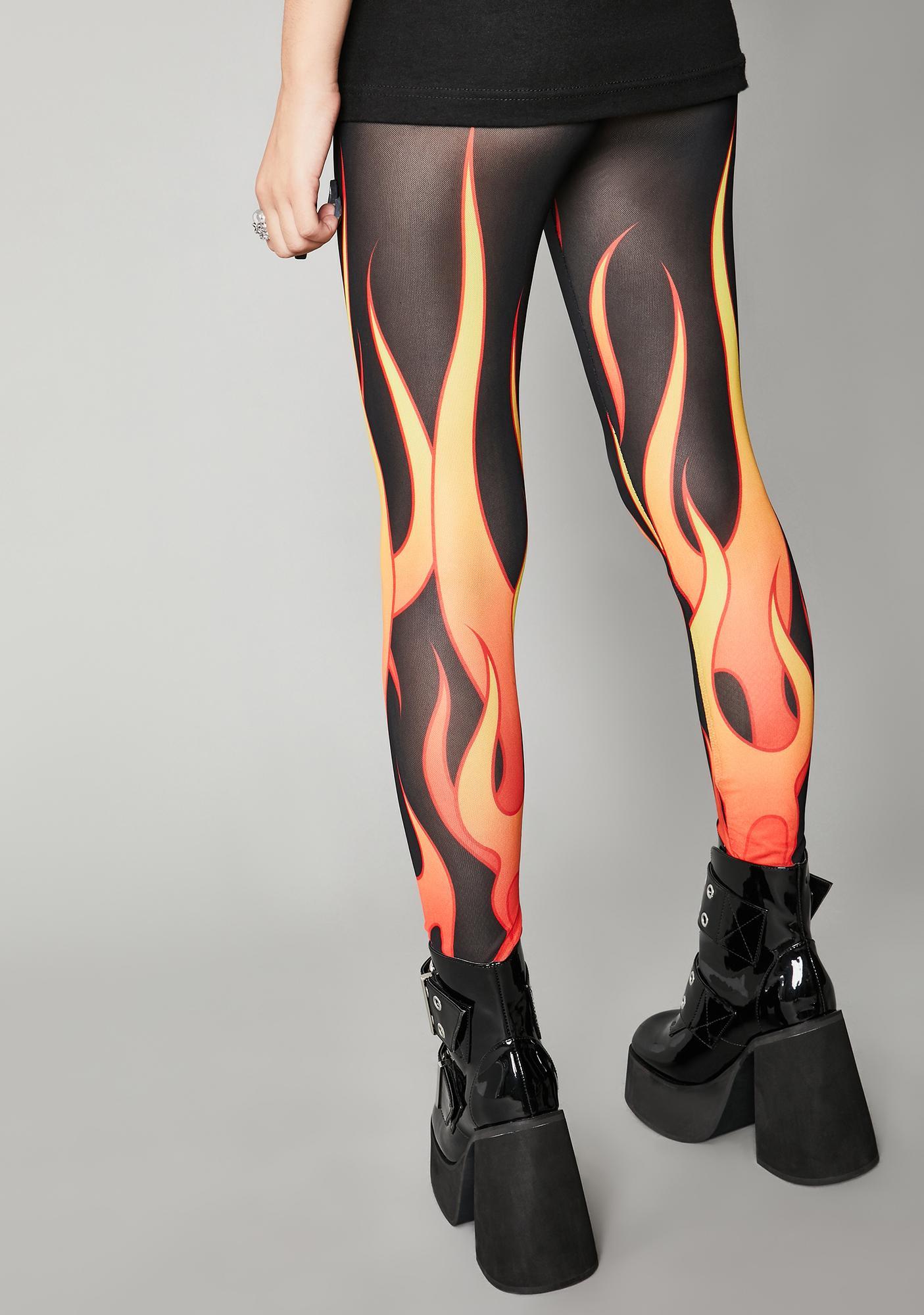 Widow Hell And Back Mesh Leggings