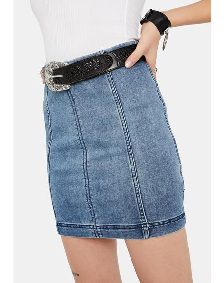 Modern Femme Denim Mini Skirt