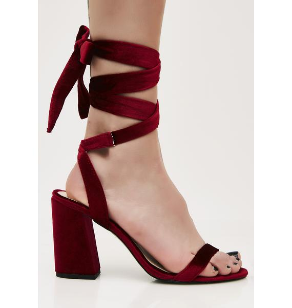 Too Bad 4 U Wrap Heels