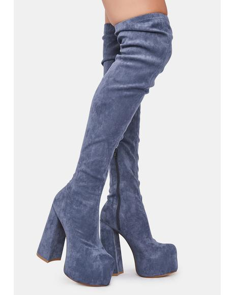 Blue Havasu Knee High Boots