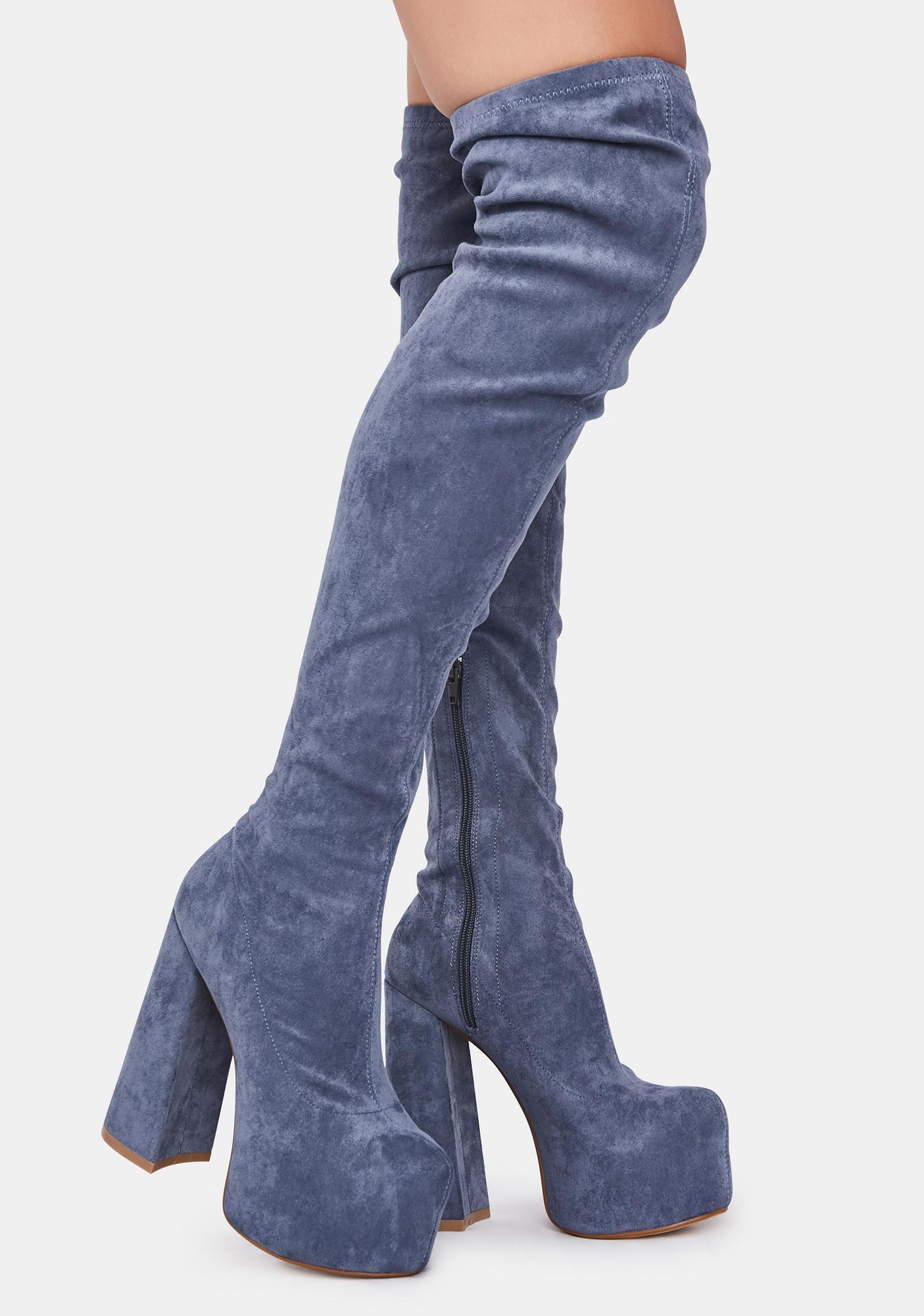 Lemon Drop by Privileged Blue Havasu Knee High Boots