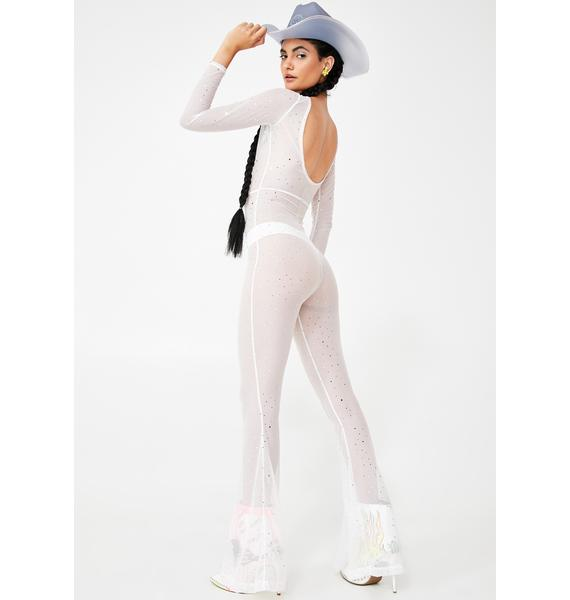 Willows Call Bebe Mesh Jumpsuit