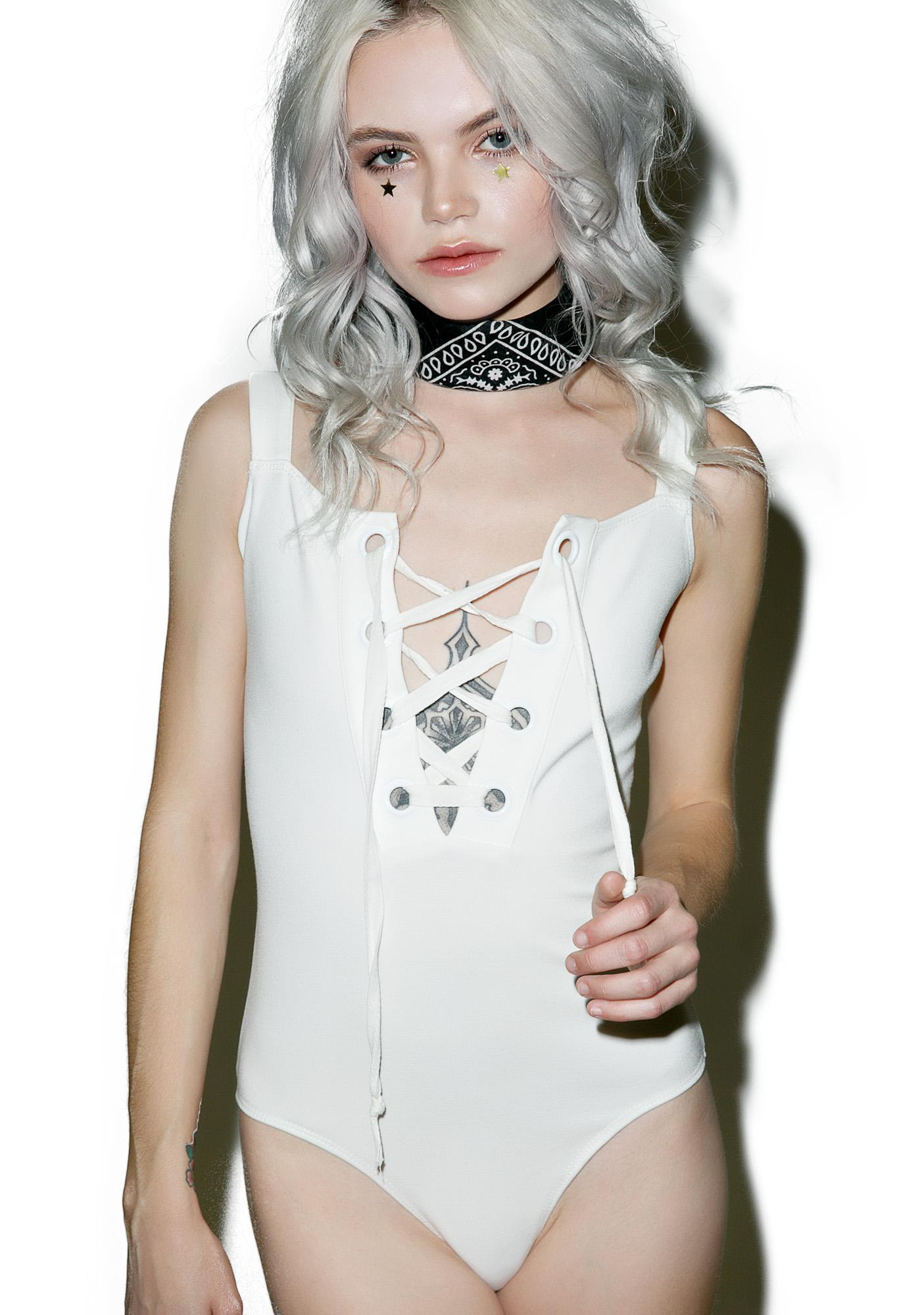 Summa Solstice Lace-Up Bodysuit
