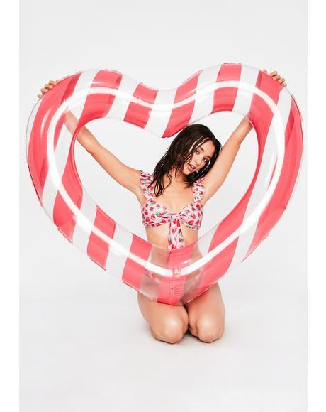 Float On! Heart Inner Tube