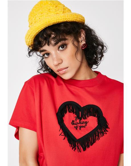 Not Thinking Fringe T-Shirt