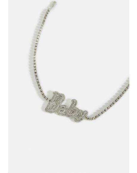 Smooth Moves Rhinestone Necklace