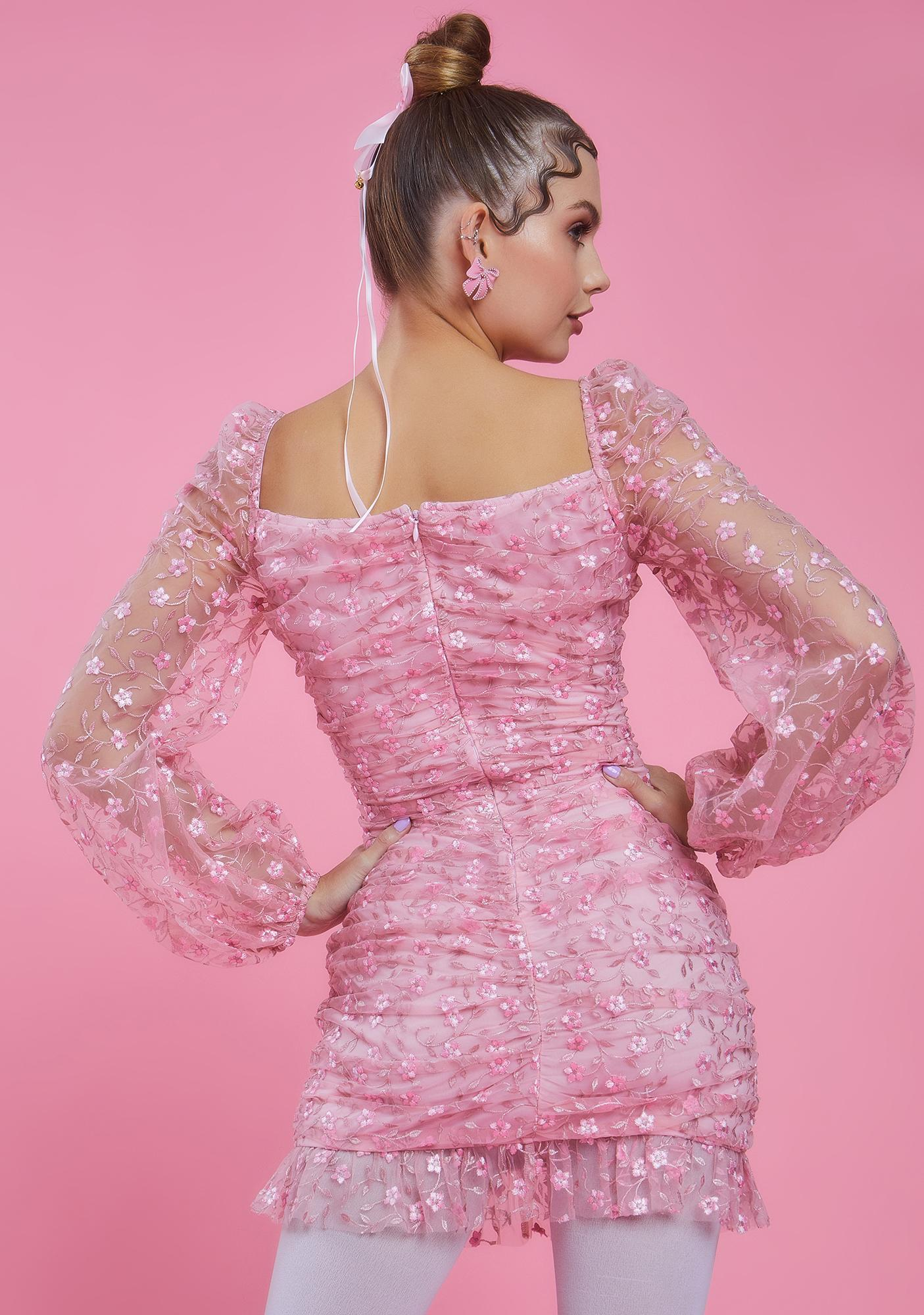 Sugar Thrillz In The Spotlight Ruched Floral Dress