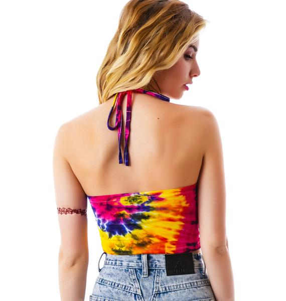 O Mighty Bad Bitches Weaves Tie Dye Halter