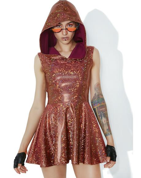 Forbidden Planet Hooded Skater Dress