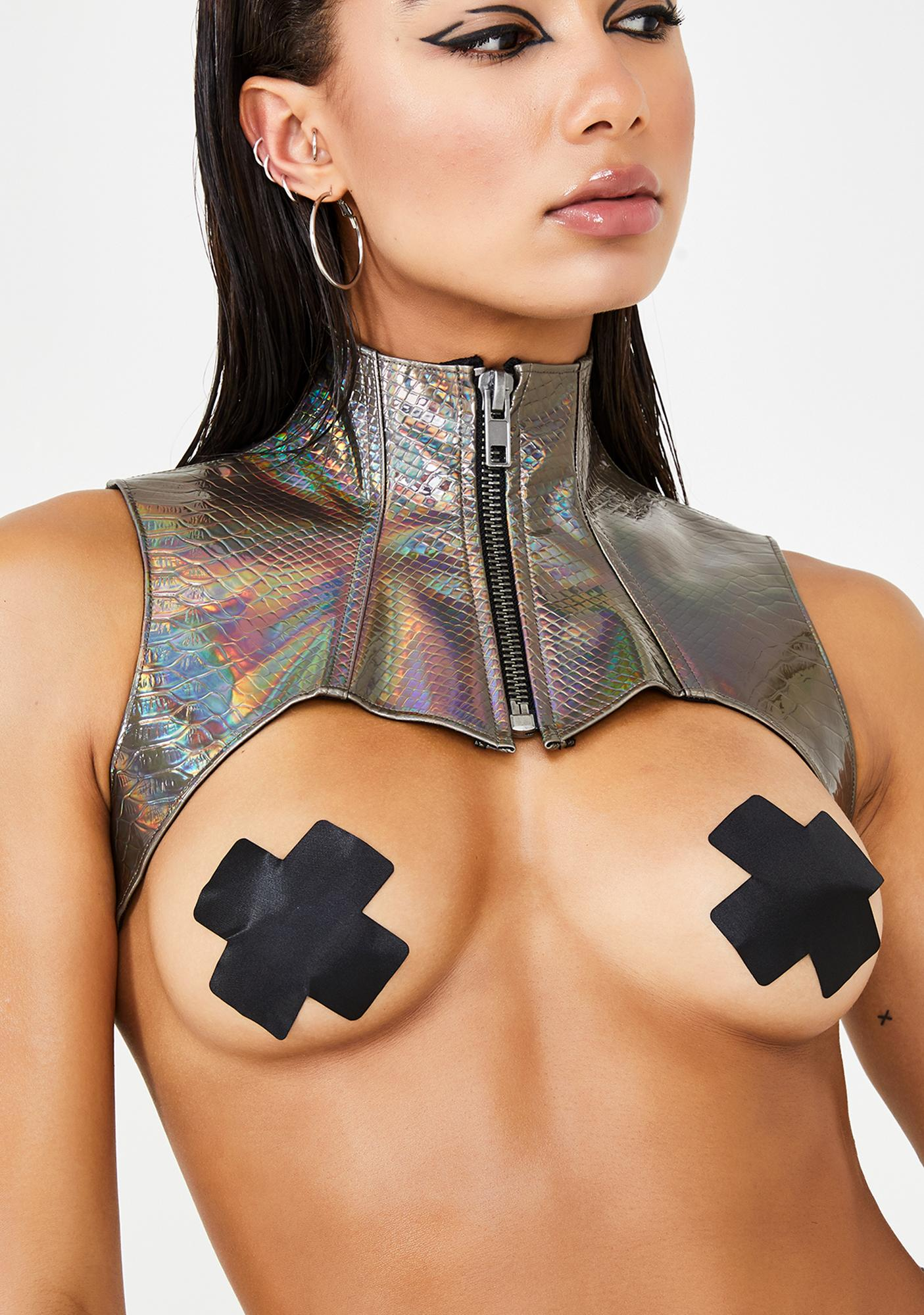 Club Exx Bronze Deadly Dose Snakeskin Harness