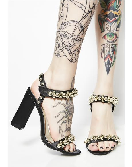 Fancy Footwork Embellished Heels
