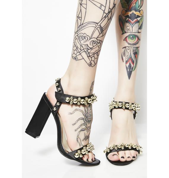 Fancy Footwork Embellished Heels