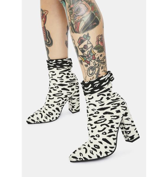 AZALEA WANG Hush Leopard Booties