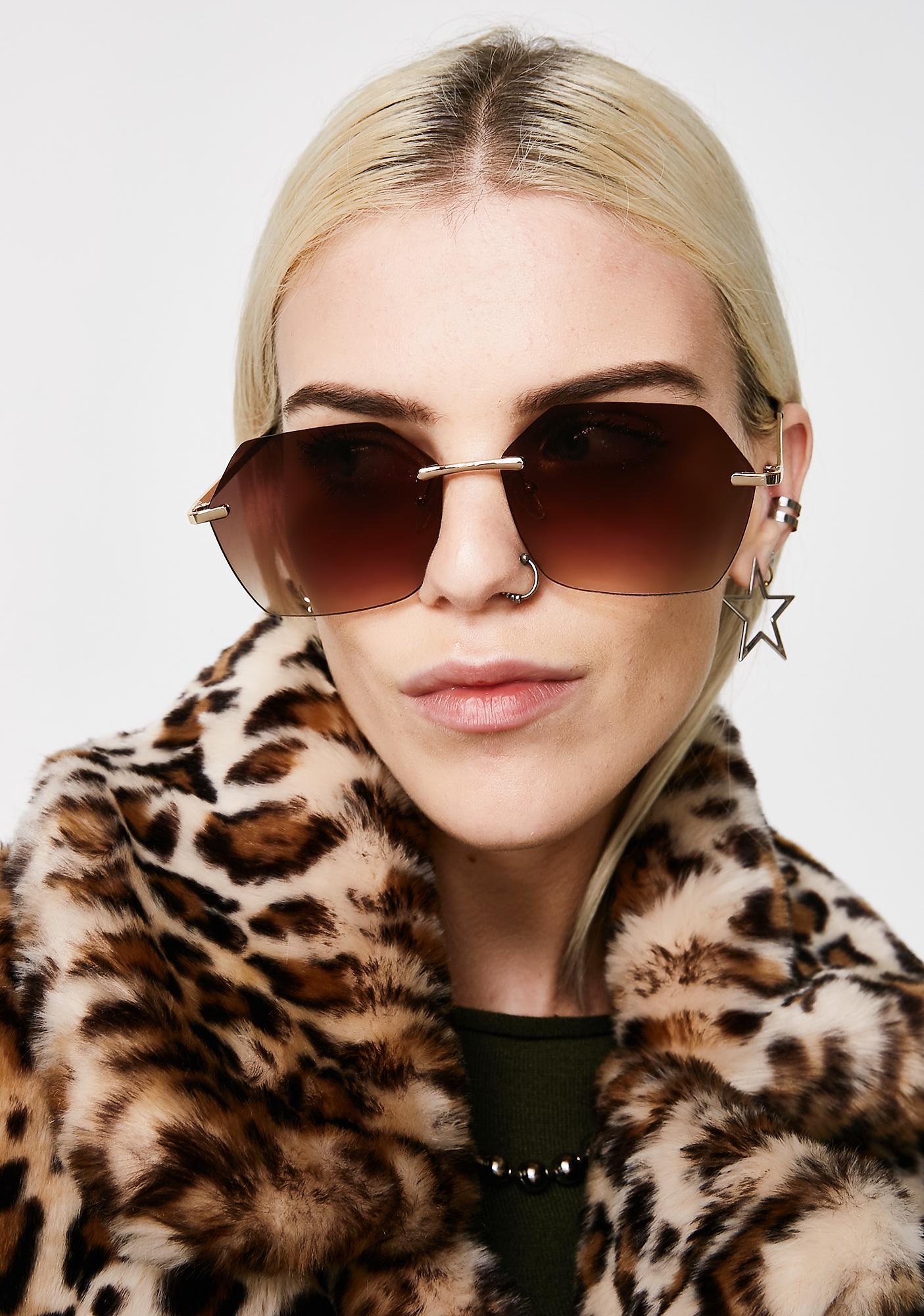 Watchin' You Oversized Sunglasses