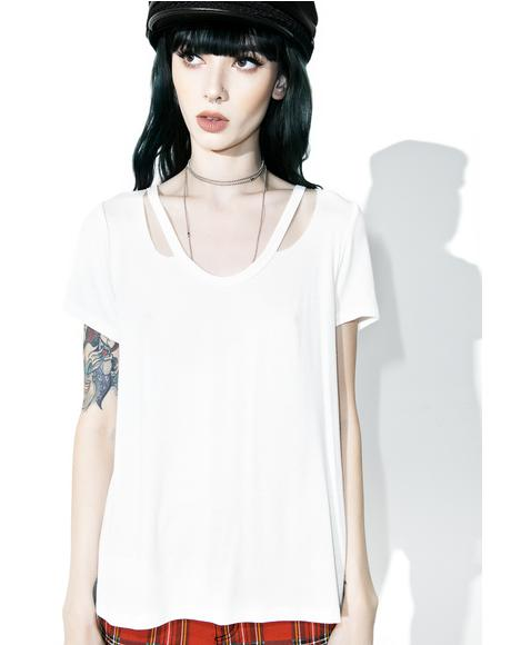 Bright Jaclyn Cutout Neck Tee