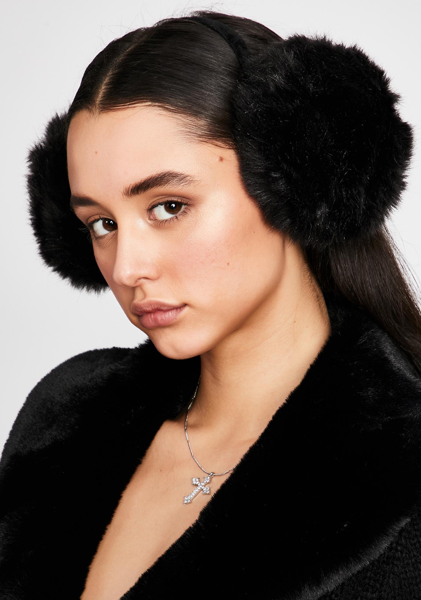 Wicked Snow Princess Fur Earmuffs