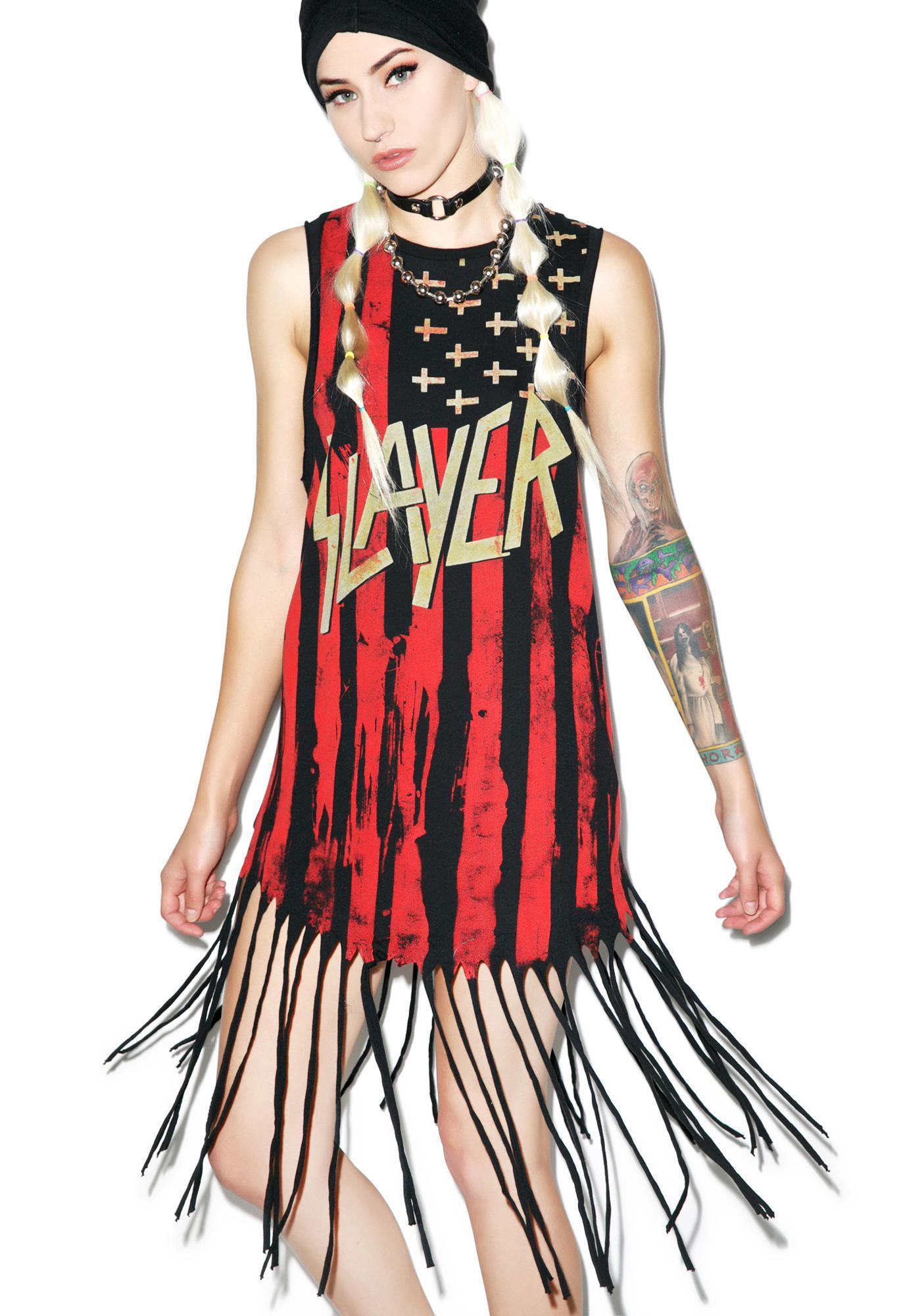 Iron Fist Slayer Fringe Muscle Tank