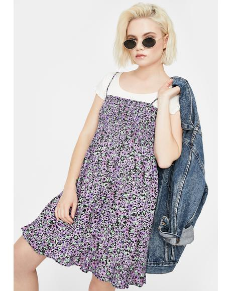 Lilac Floral Seldre Mini Dress