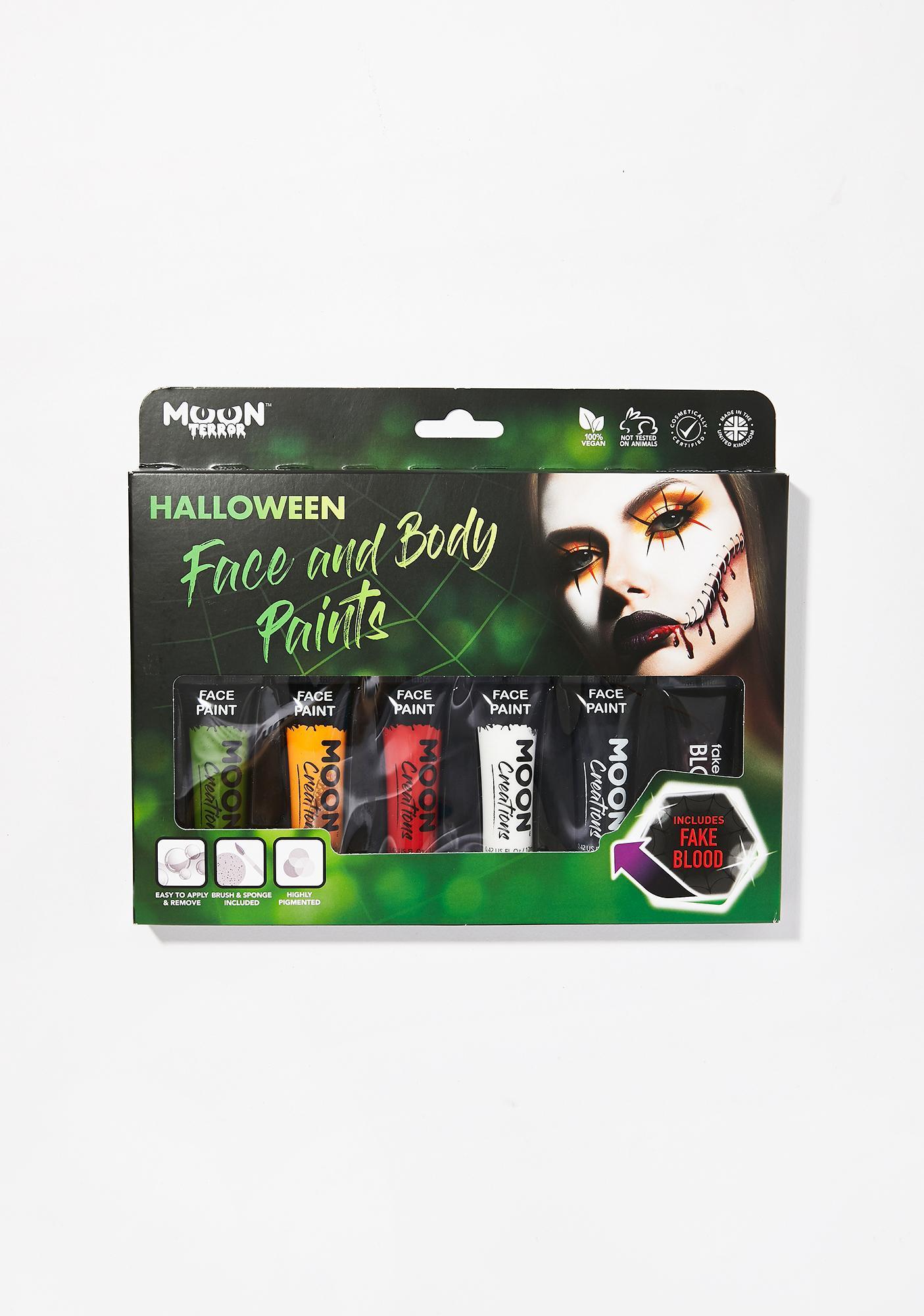 Moon Creations Halloween Face & Body Paint Set