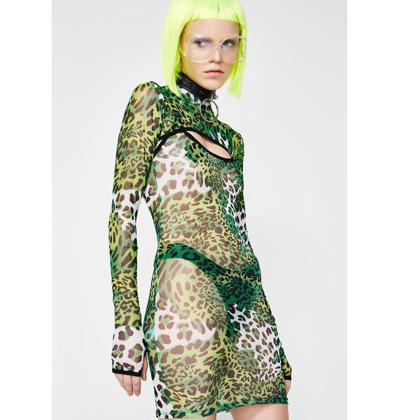 Current Mood Prey On You Sheer Dress