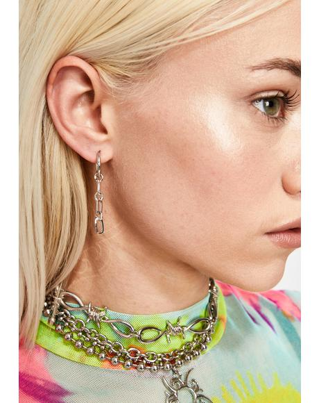 Fly Hunny Chain Earrings